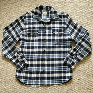 Jachs flannel plaid button down shirt sz L tall